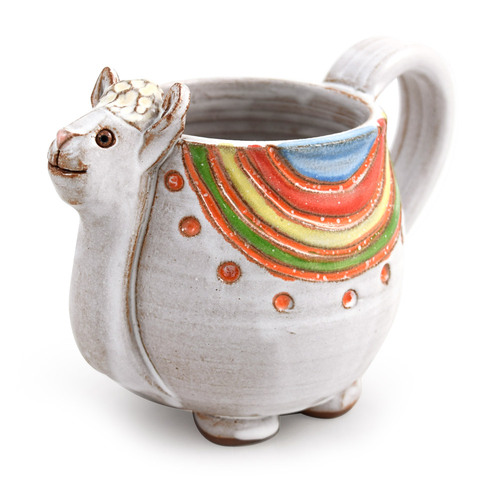 Dolly the Llama Sculpted Stoneware Mug