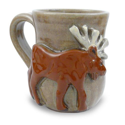 Stoneware Moose Mug