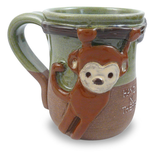 Hang in There Monkey Mug