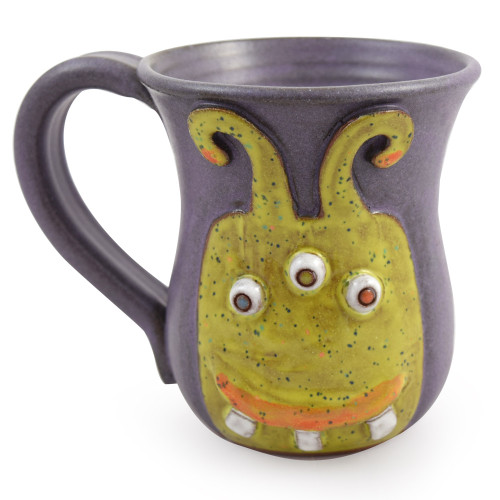 Caffeine Monster Sculpted Stoneware Mug