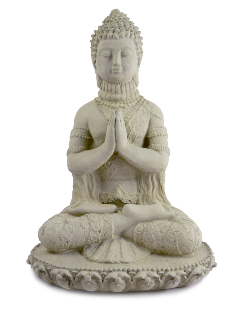 Ornamental Praying Buddha Concrete Garden Statue