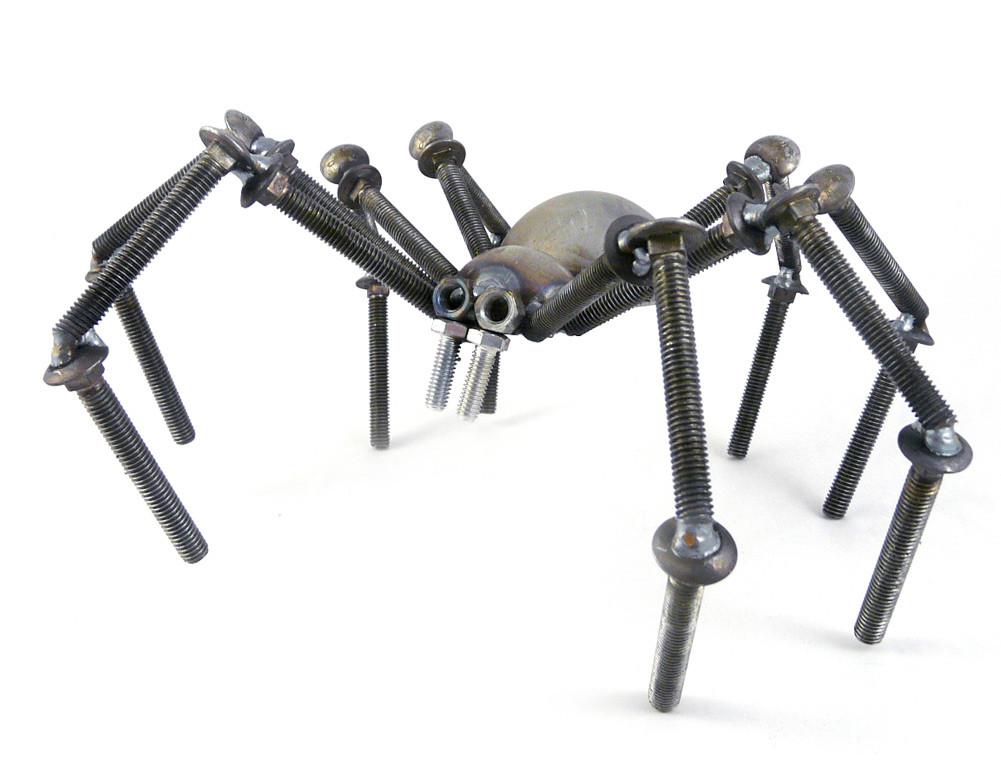 Recycled Metal Garden Spider / Tarantula
