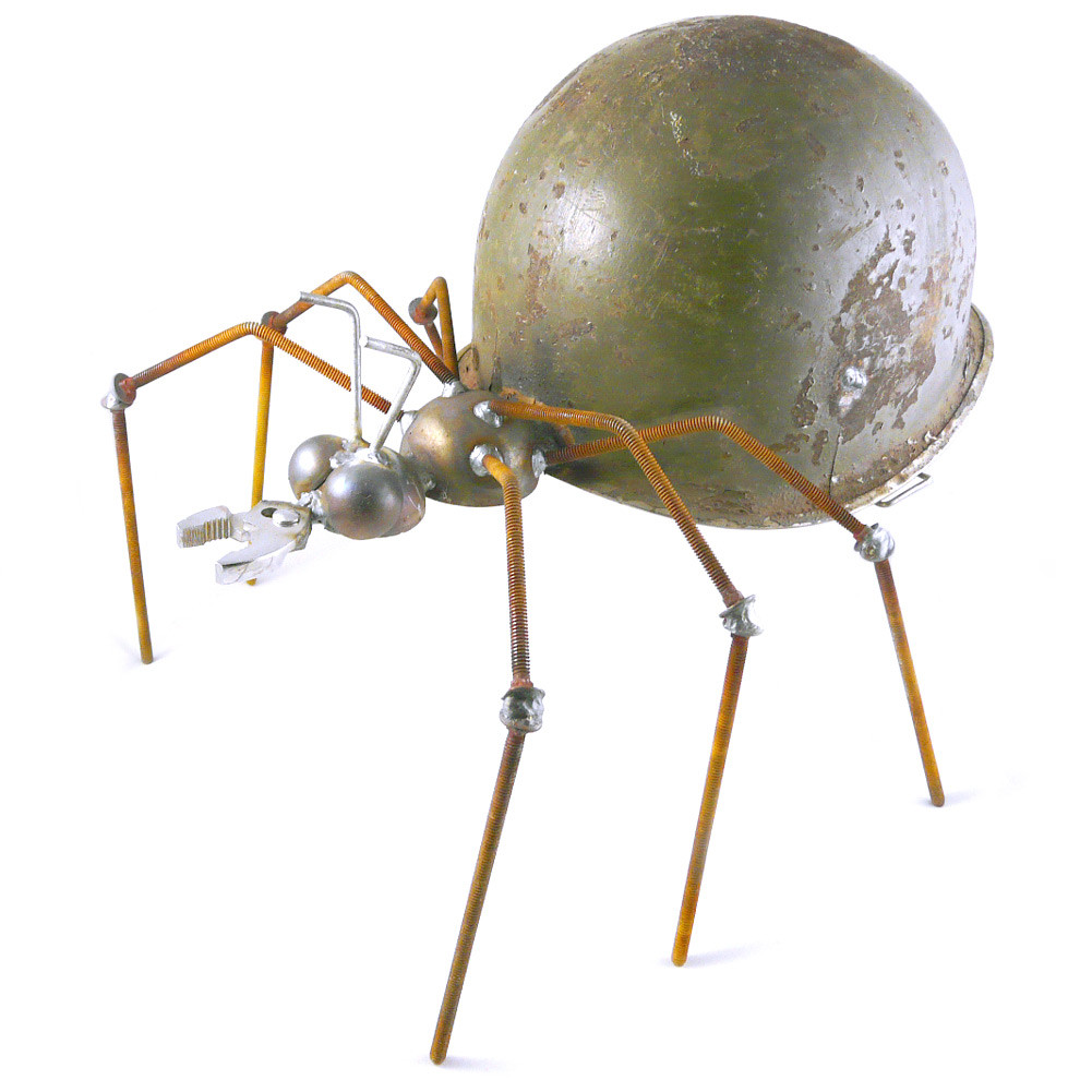 Recycled Metal Army Ant Sculpture