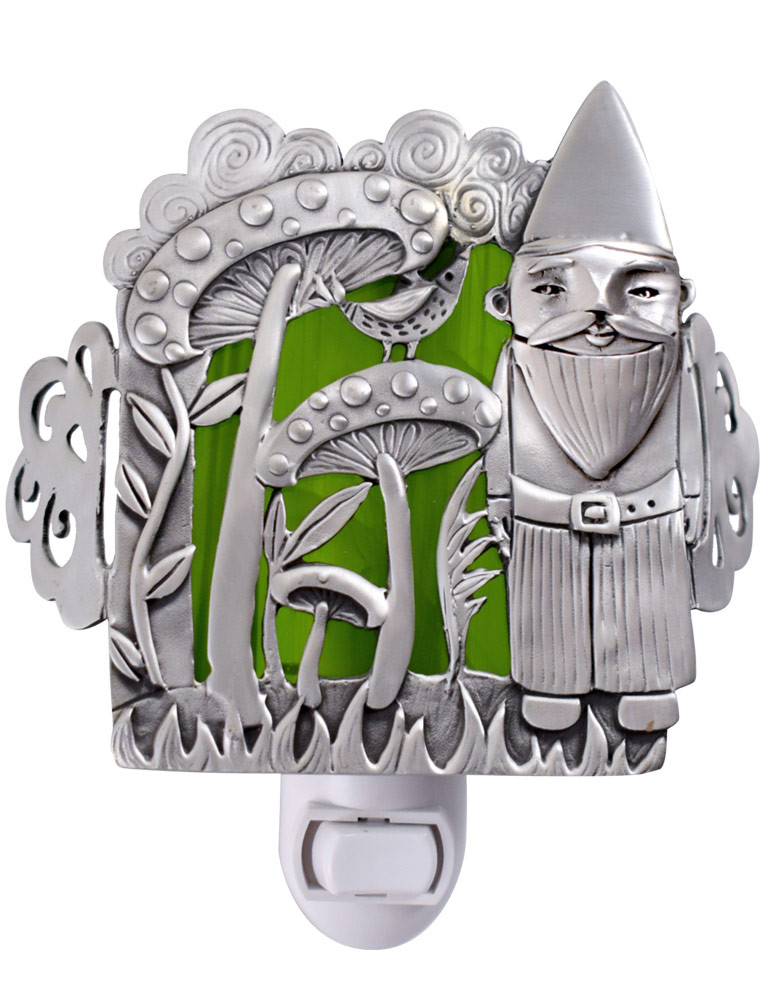 Cast Pewter Art Nightlight - Garden Gnome