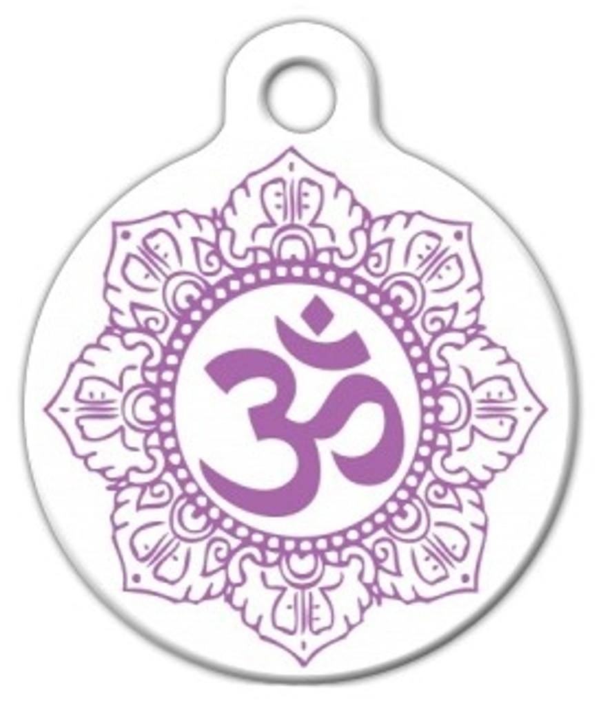 Om Mandala Dog ID Tag