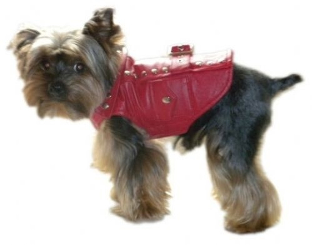 Best Dog Jacket | Thriller Red Motorcycle Dog Jacket