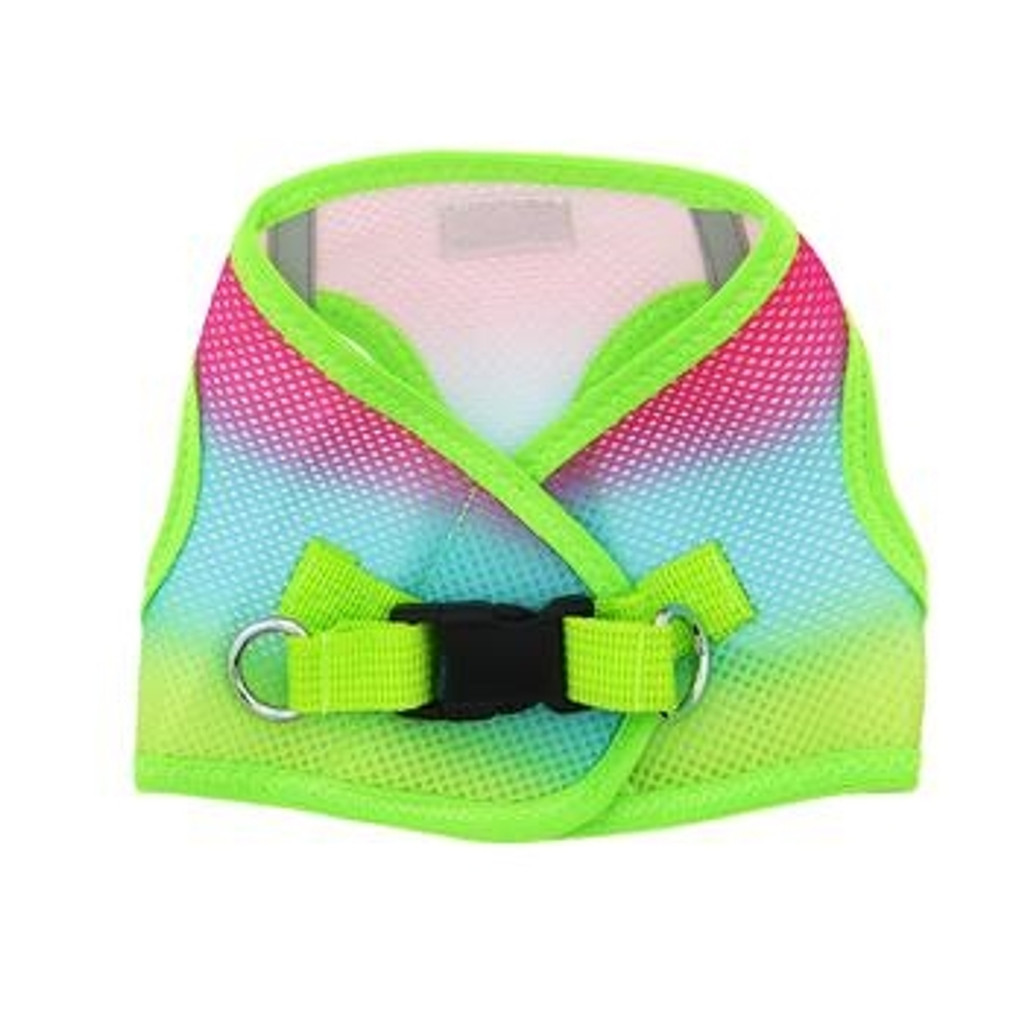Choke Free Ombre Mesh Dog Harness - Rainbow