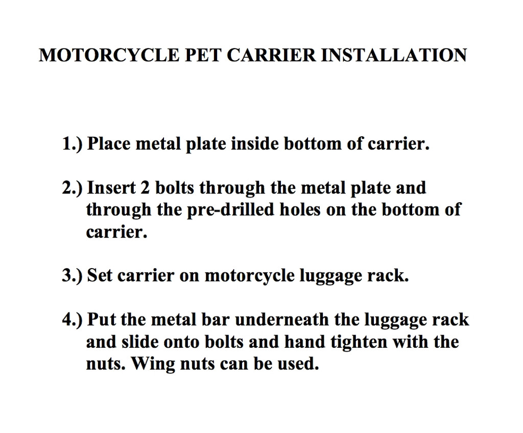 motorcycle dog seat