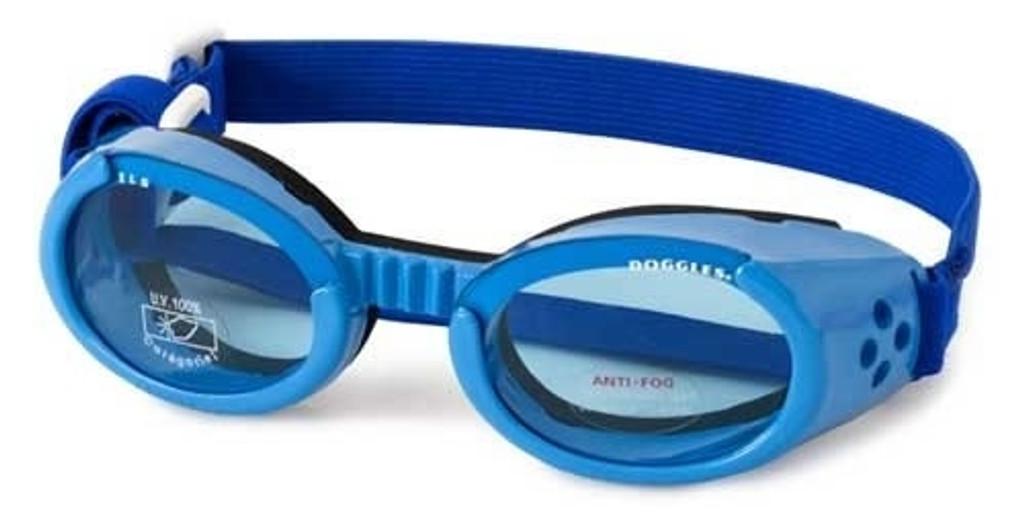 Doggles ILS Shiny Blue Dog Goggles