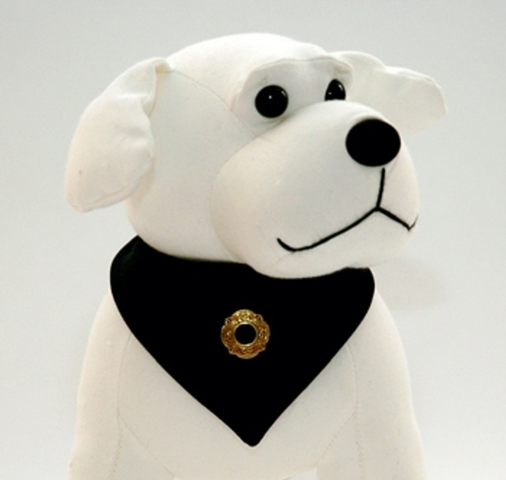 Black Continental Dog Tie with Conch
