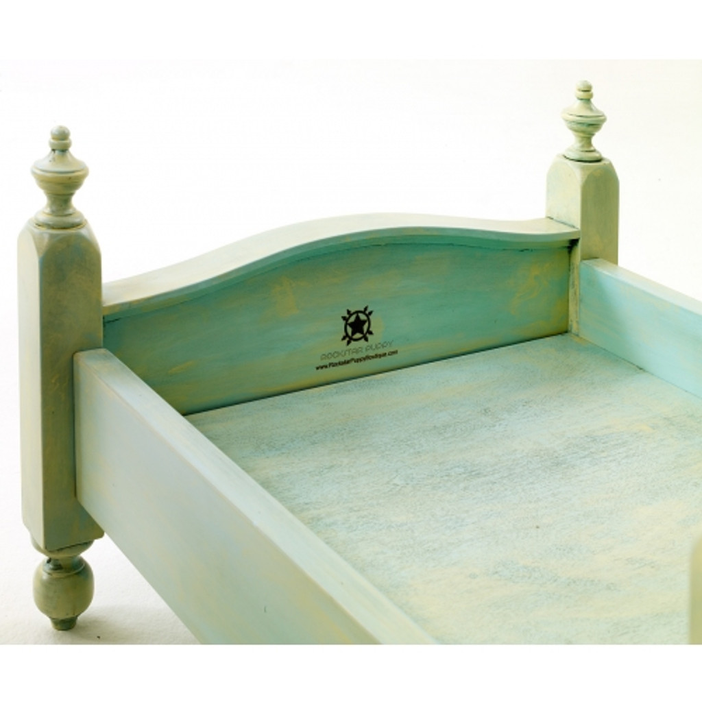 Shabby Chic Dog Bed ~ Aquamarine