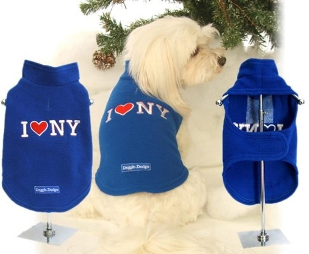 I Love NY Fleece Dog Vest