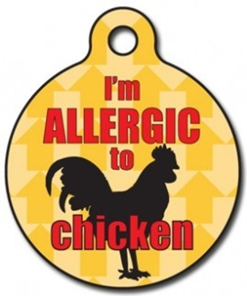 Chicken Allergy Medical Alert Dog ID Tag