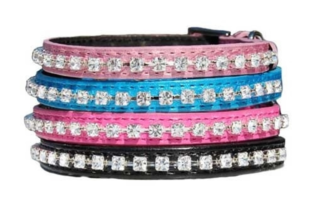Dog Collar | Beau Nouveau Crystal Bling Dog Collar