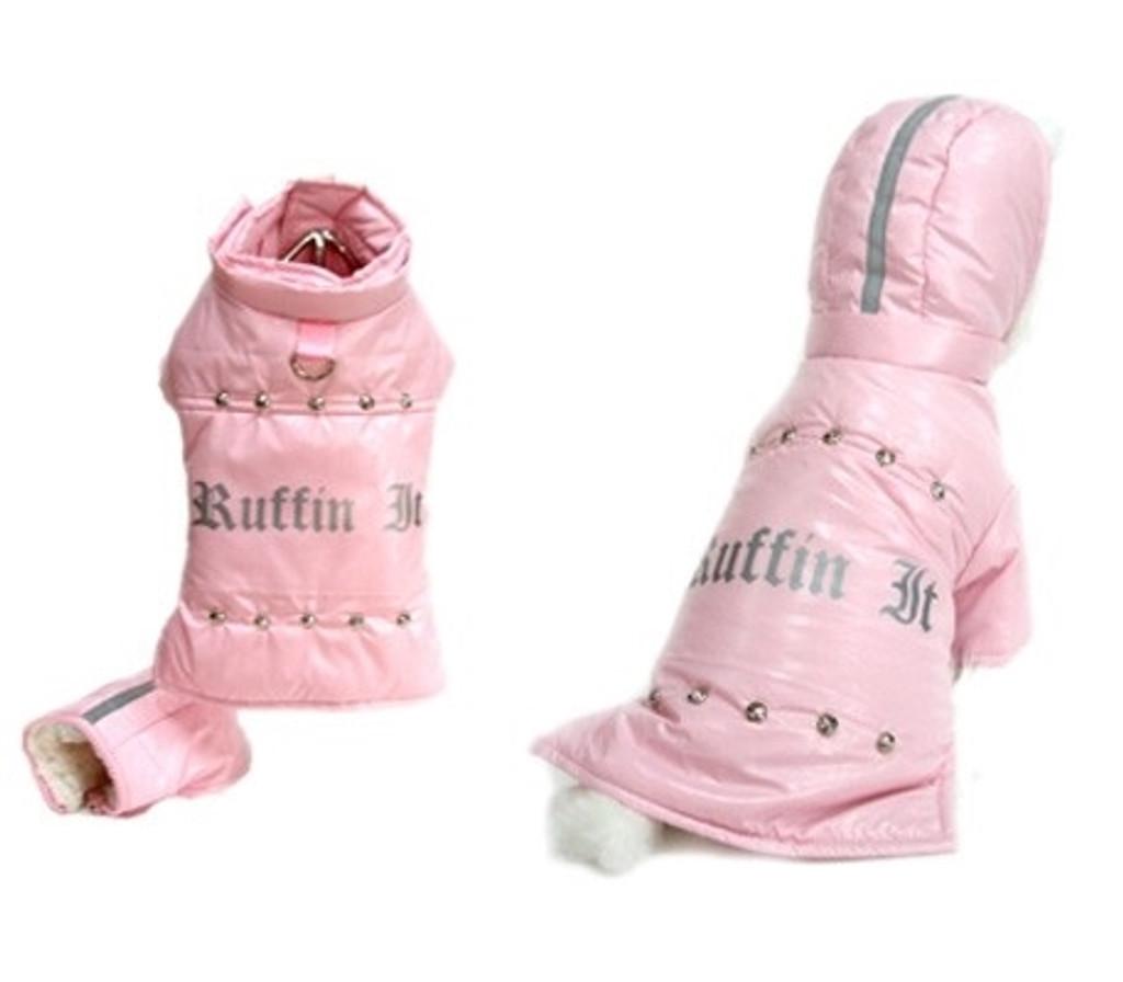 Ruffin it Pink Dog Coat