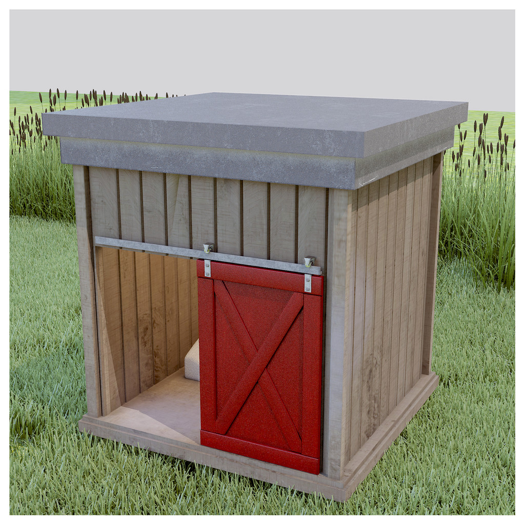 reclaimed barnwood dog house