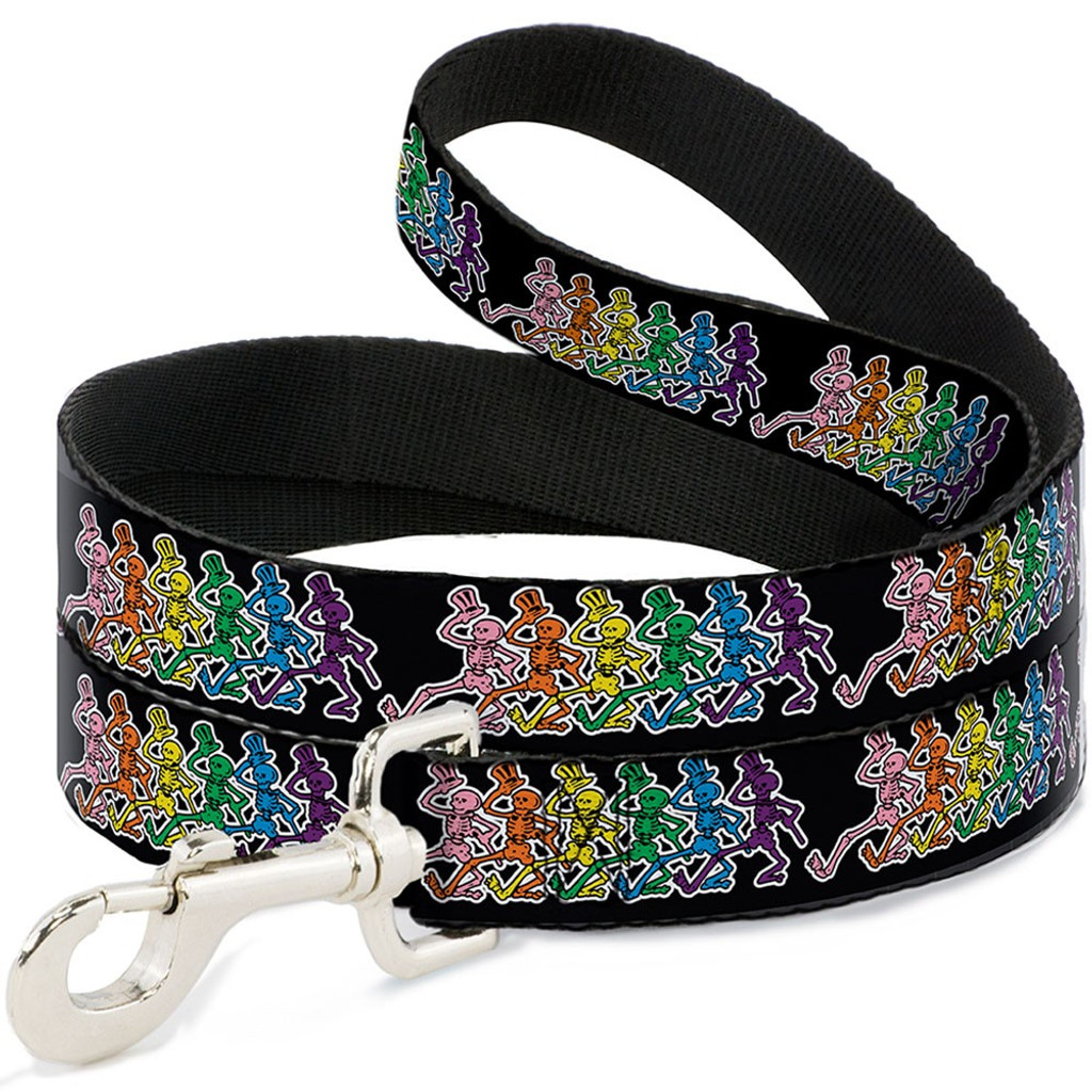 grateful dead dancing skeletons dog leash