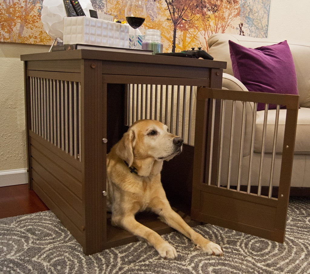 Brown Designer Dog Crate