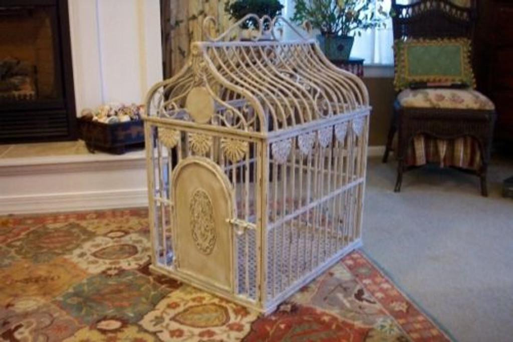 Wrought Iron Designer Dog Crate