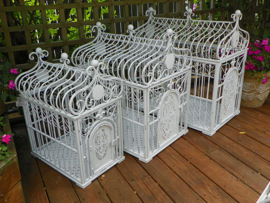 Wrought Iron Designer Dog Crate (3 sizes available)