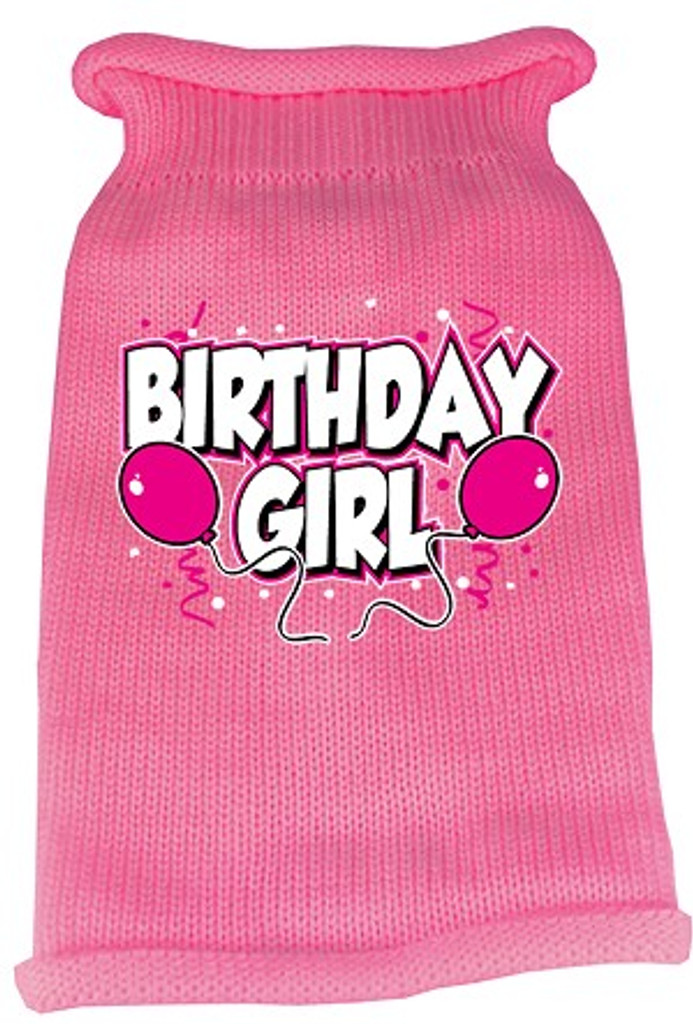 pink birthday girl dog sweater