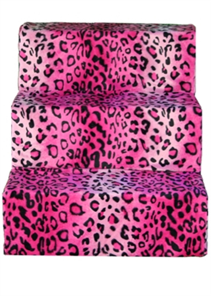 pink cheetah pet steps