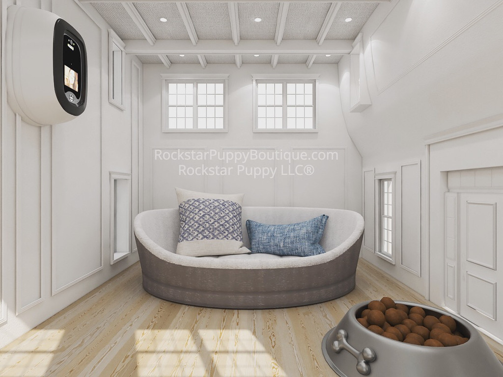 hamptons style dog house interior