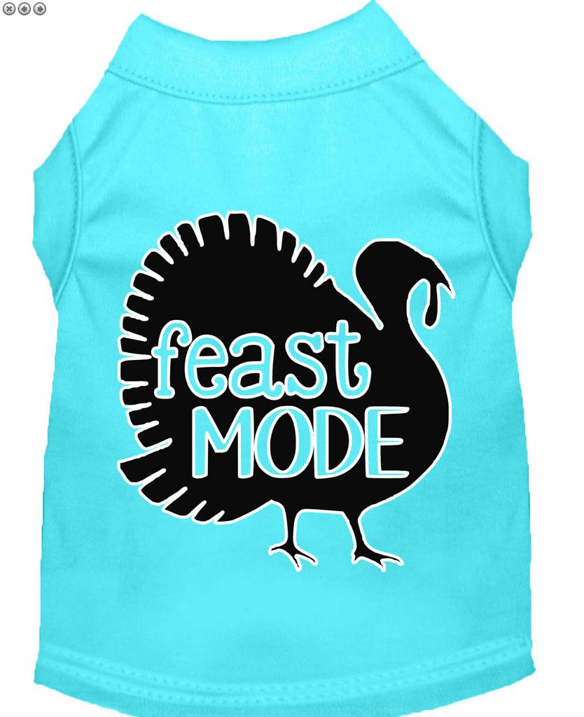 feast mode thanksgiving sleeveless dog tee