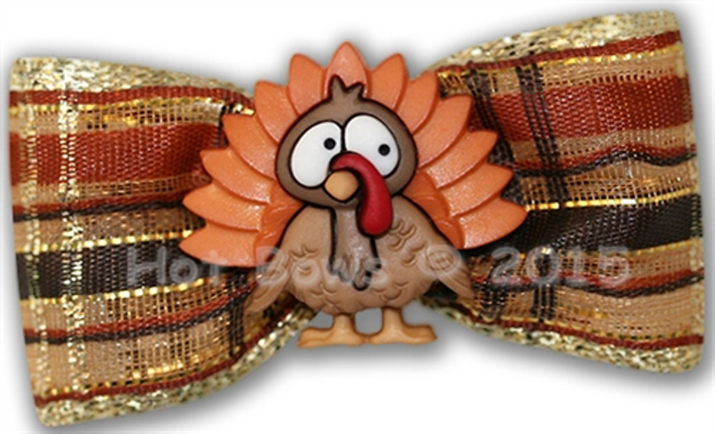 thanksgiving turkey hair clip for dogs