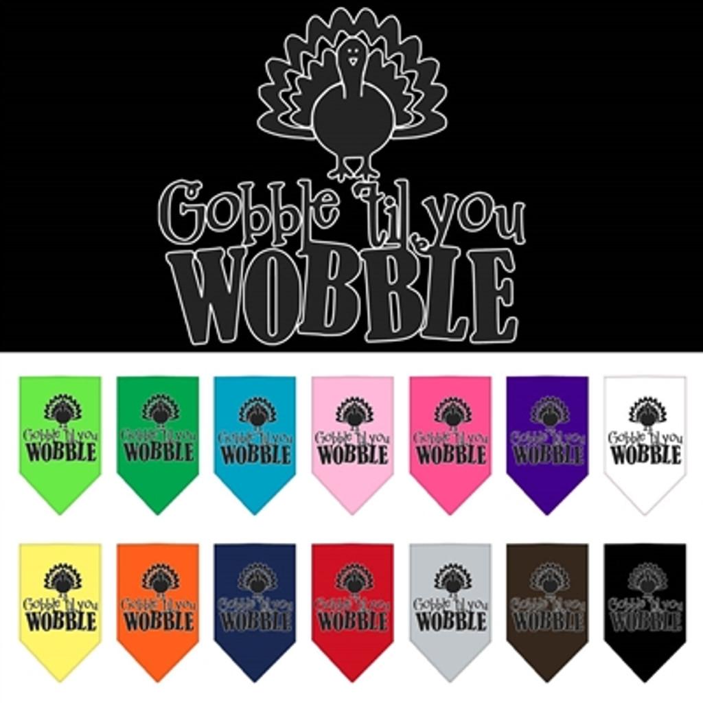 Gobble Til You Wobble Pet Bandana (many colors)
