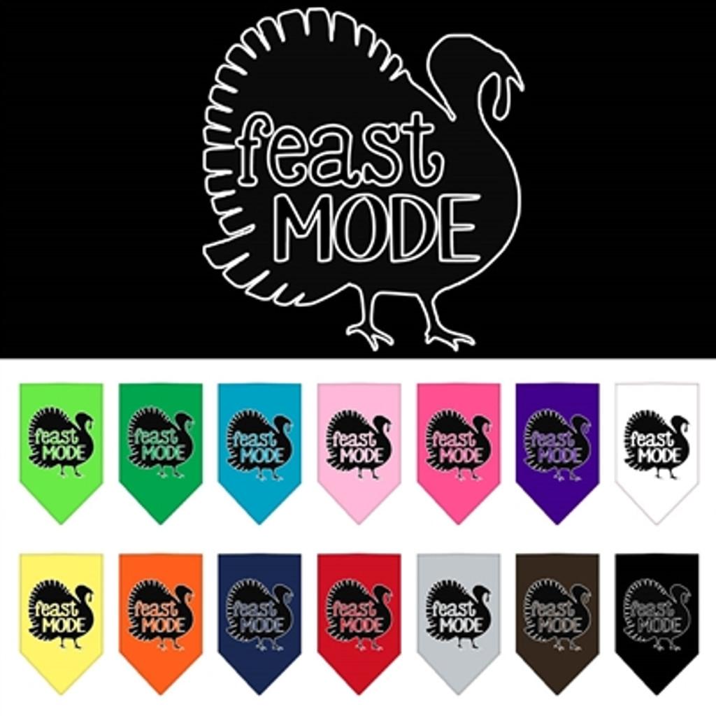 Feast Mode Thanksgiving Pet Bandana (Many Colors)