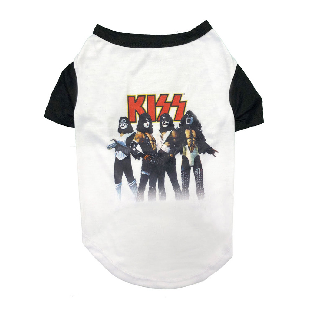 kiss love gun dog tee