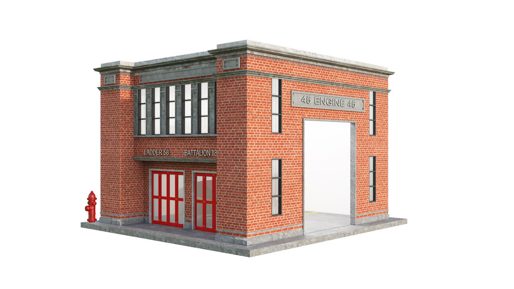 Fire Station Dog House Entrance