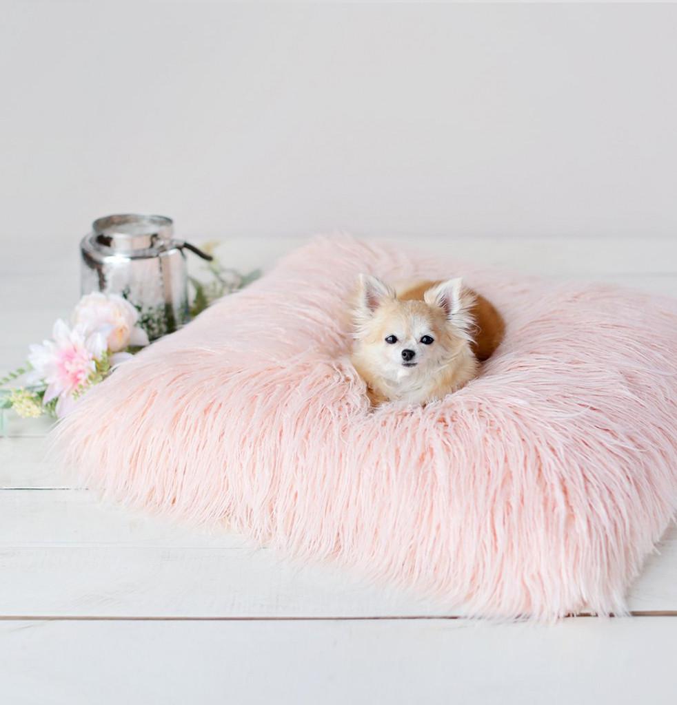 Faux Fur Mongolian Lamb Dog Bed