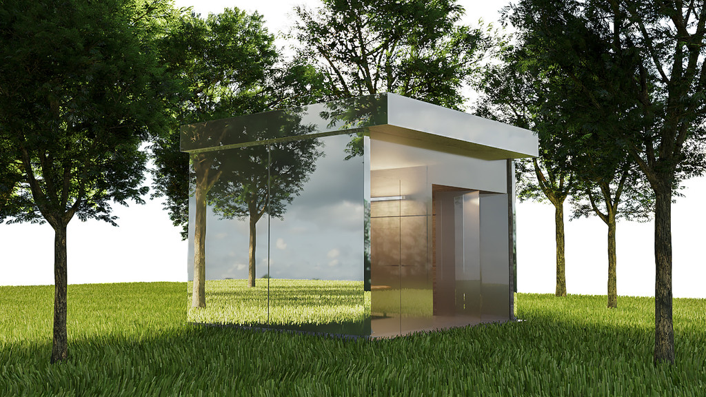 Mirror Dog House