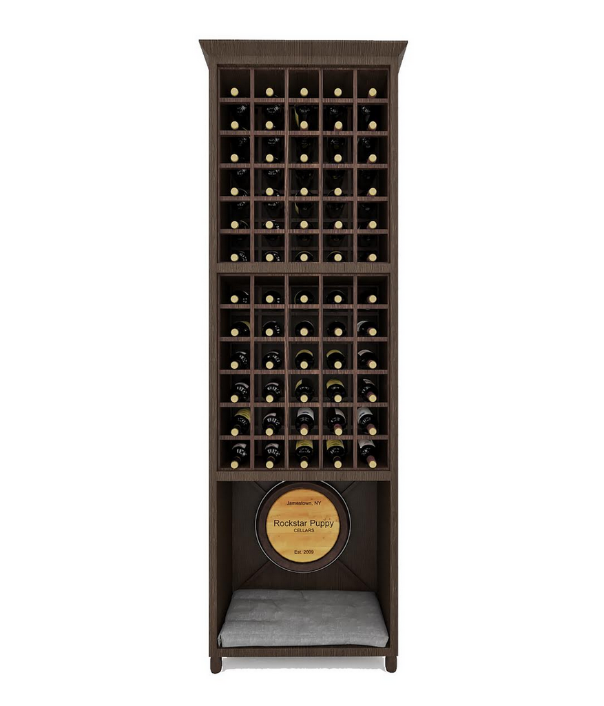 wine rack with built in dog bed