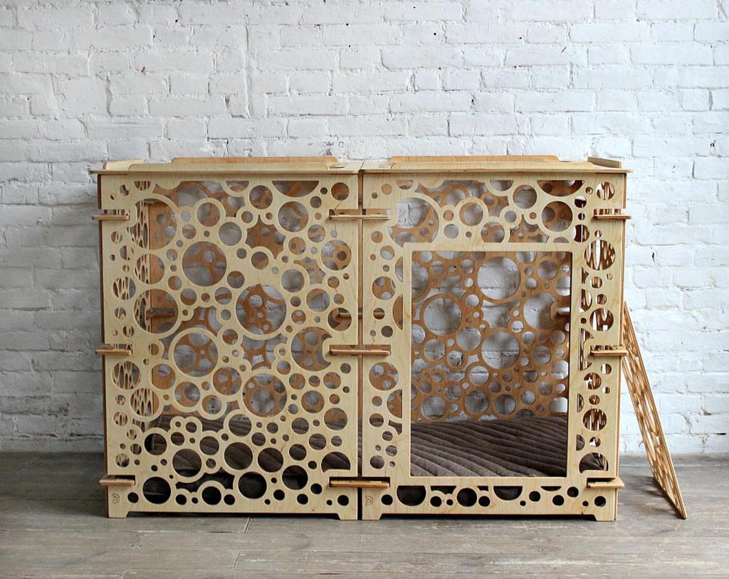 large modern dog crate