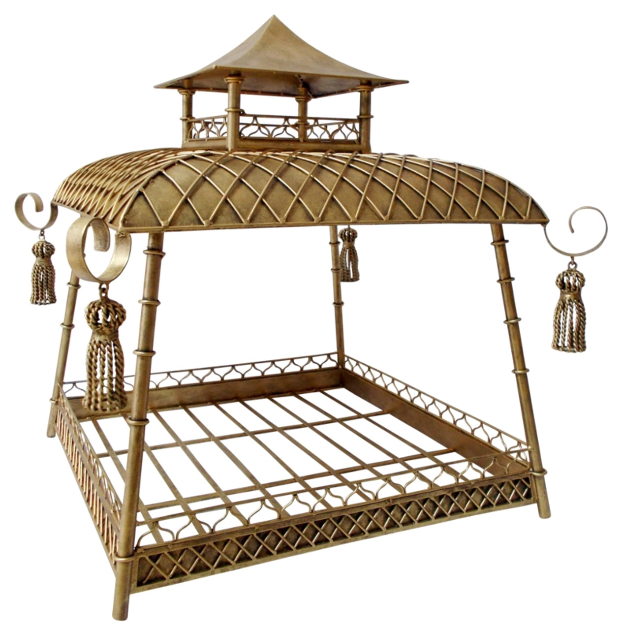 Picture of: Wrought Iron And Tole Pagoda Style Dog Bed Rockstar Puppy