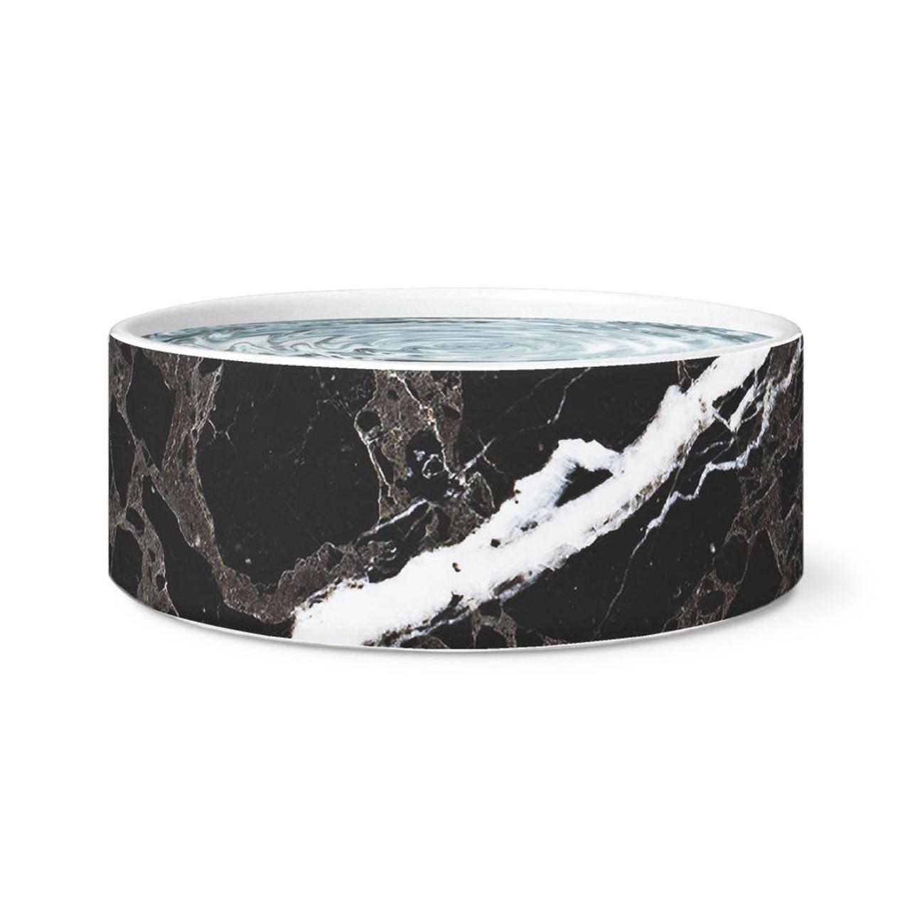 Faux Fur Dog Sling Black Marble