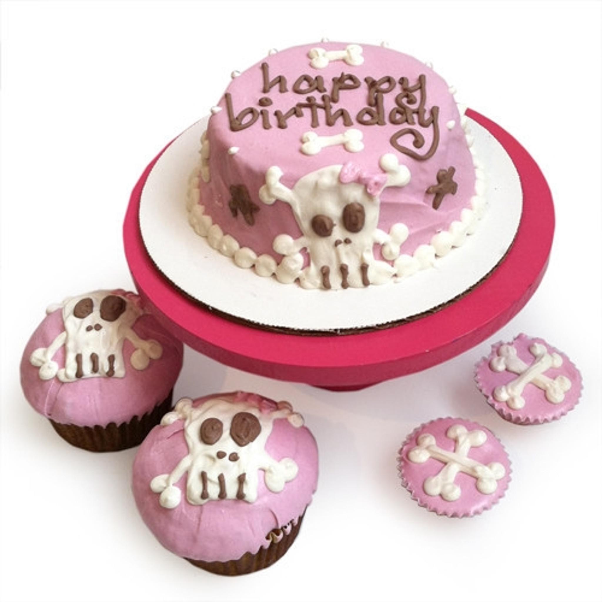 Fantastic Doggie Birthday Cakes Pink Punk Rock Skull Dog Birthday Cake Funny Birthday Cards Online Eattedamsfinfo