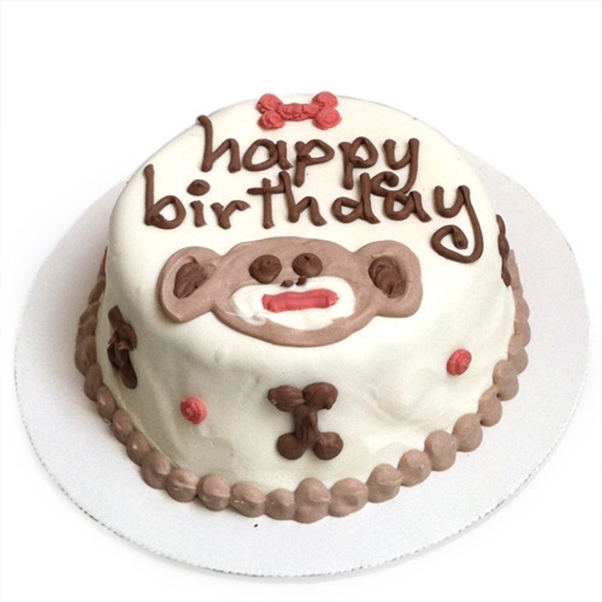 Marvelous Doggie Birthday Cakes Sock Monkey Dog Birthday Cake Funny Birthday Cards Online Barepcheapnameinfo
