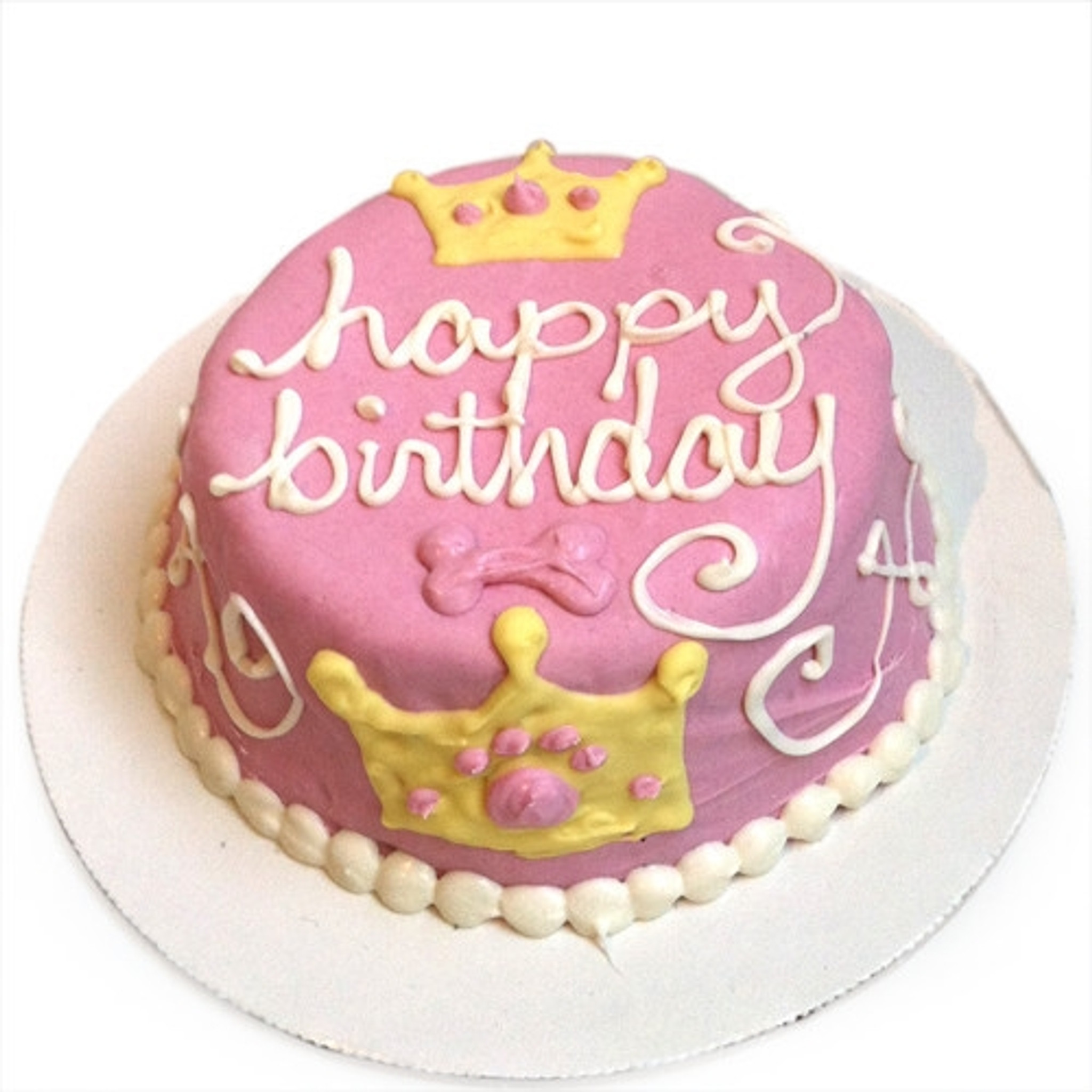Fantastic Doggie Birthday Cakes Pink Princess Dog Birthday Cake Personalised Birthday Cards Veneteletsinfo