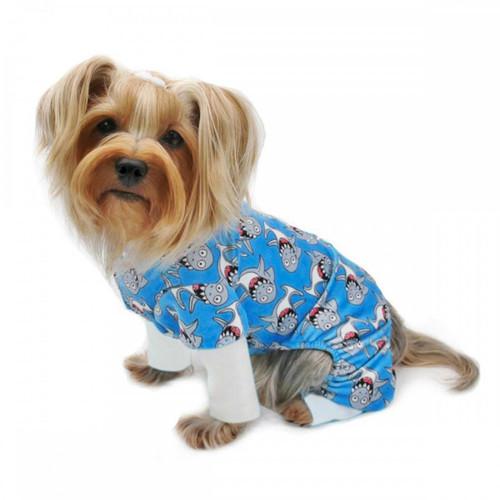 Shark Print Dog Pajamas