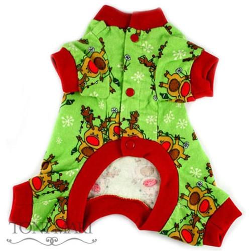 Dog Pajamas | Toni Mari Reindeer Snowflakes Dog Pajamas