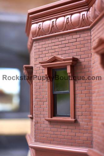Brooklyn Brownstone Dog House detail