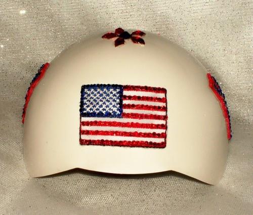 XS USA Patriotic Bling Dog Helmet