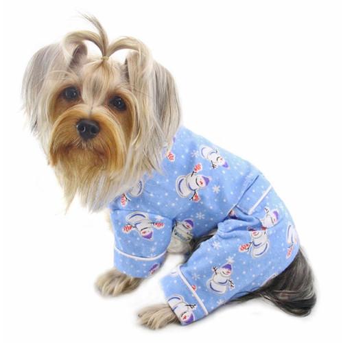 Dog Pajamas | Snowman Snowflake Dog Pajamas