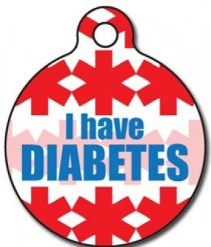 Diabetic Medical Alert Dog ID Tag