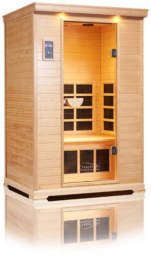 Clearlight Infrared Sauna Nordic Spruce CE-1 for 1 Person + Small Pet 1