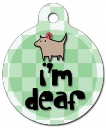 I'm Deaf Medical Alert Dog ID Tag